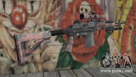 M14 EBR Red Tiger for GTA San Andreas second screenshot