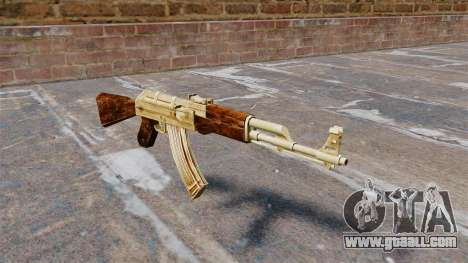 AK-47 gold plated for GTA 4
