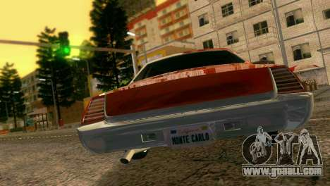 Chevy Monte Carlo Lowrider for GTA Vice City right view