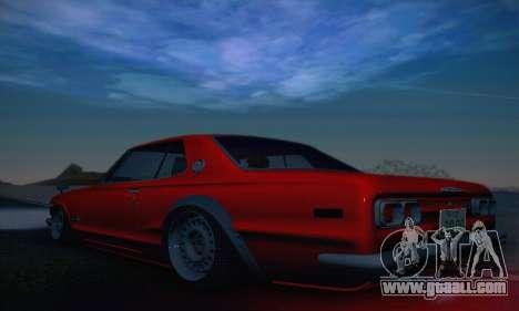Nissan Skyline 2000GTR 1967 Hellaflush for GTA San Andreas