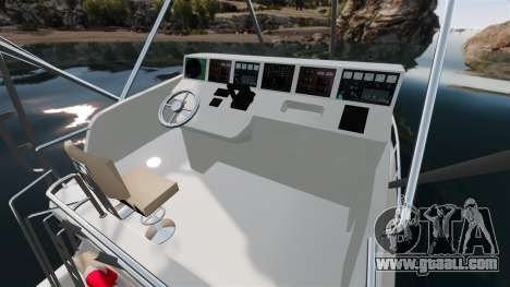 Sport fishing yacht for GTA 4 inner view