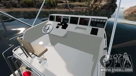 Sport fishing yacht for GTA 4 inner view
