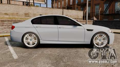 BMW M5 Unmarked Police [ELS] for GTA 4 left view