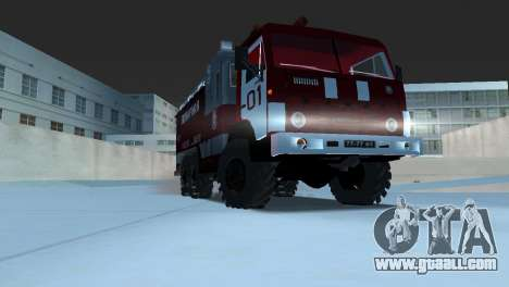KAMAZ 43101 Firefighter for GTA Vice City back left view