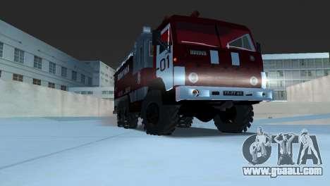 KAMAZ 43101 Firefighter for GTA Vice City back left view