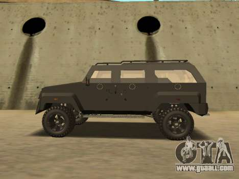 Ford Super Duty Armored for GTA San Andreas back left view