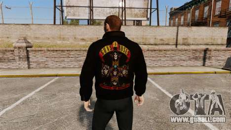 Leather jacket-Guns N Roses- for GTA 4 second screenshot