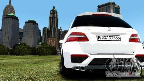 Mercedes-Benz ML63 AMG for GTA 4 back view