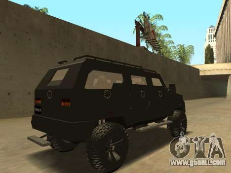 Ford Super Duty Armored for GTA San Andreas back view