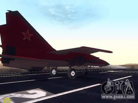MiG 25 for GTA San Andreas side view