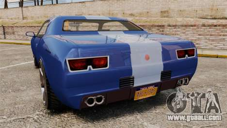 GTA V Declasse Gauntlet ZL1 for GTA 4 back left view