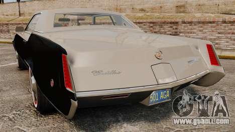 Cadillac Eldorado Coupe 1969 for GTA 4 back left view