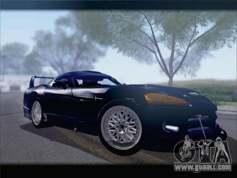 Dodge Viper Competition Coupe for GTA San Andreas back left view