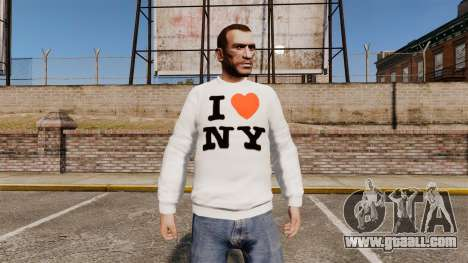 Sweater-I love New York for GTA 4