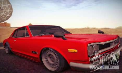 Nissan Skyline 2000GTR 1967 Hellaflush for GTA San Andreas left view
