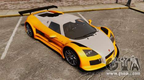 Gumpert Apollo S 2011 for GTA 4 bottom view
