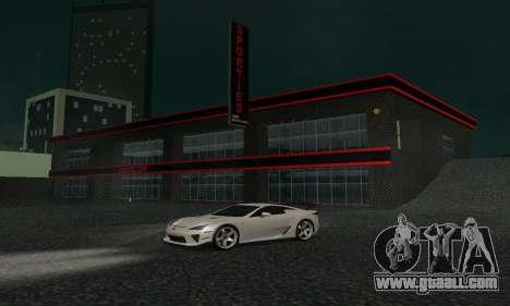 New showroom in Dorothi for GTA San Andreas fifth screenshot