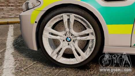 BMW M5 Ambulance [ELS] for GTA 4 back view