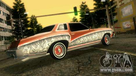 Chevy Monte Carlo Lowrider for GTA Vice City back view