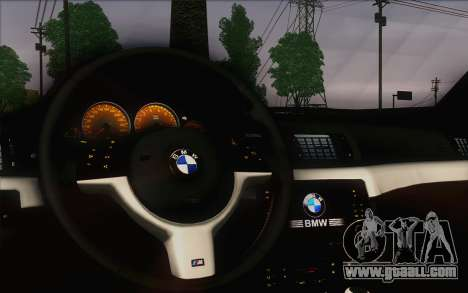 BMW M3 E46 2005 for GTA San Andreas inner view
