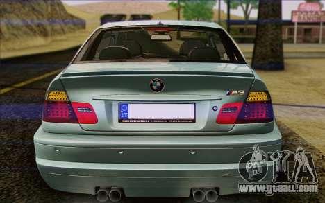 BMW M3 E46 2005 for GTA San Andreas interior