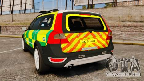 Volvo XC70 Paramedic [ELS] for GTA 4 back left view