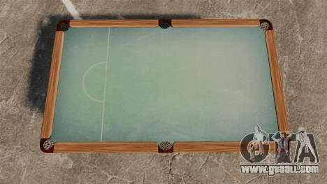 New pool table for GTA 4 second screenshot