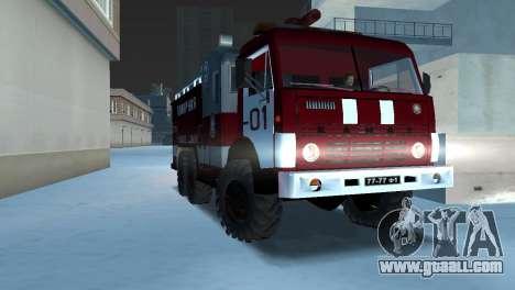 KAMAZ 43101 Firefighter for GTA Vice City