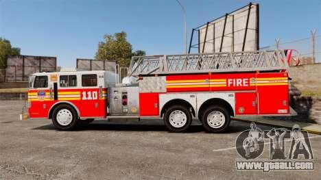 MTL Firetruck MDH1000 Midmount Ladder FDNY [ELS] for GTA 4 left view
