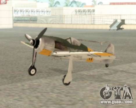 Focke-Wulf FW-190 F-8 for GTA San Andreas