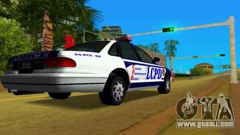 GTA IV Police Cruiser for GTA Vice City left view