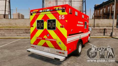 Ford E-350 LAFD Ambulance [ELS] for GTA 4 back left view
