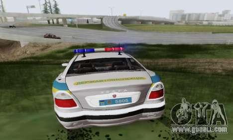 GAS-3111 Miliciâ Ukraine for GTA San Andreas back view