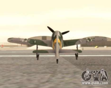 Focke-Wulf FW-190 F-8 for GTA San Andreas right view