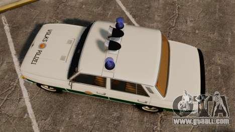 Wartburg 353 W Deluxe Polizei for GTA 4 right view