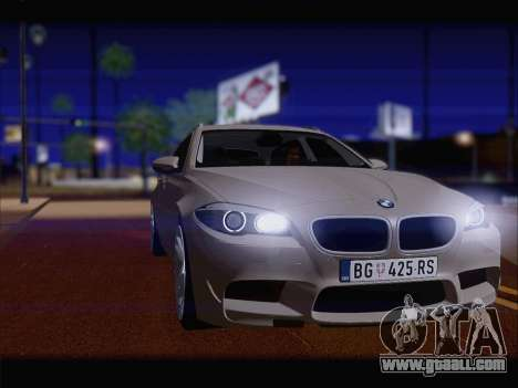 BMW M5 F11 Touring for GTA San Andreas back left view