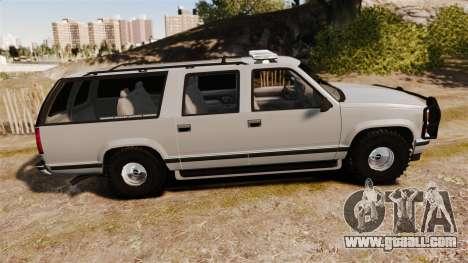 Chevrolet Suburban 1999 Police [ELS] for GTA 4 left view