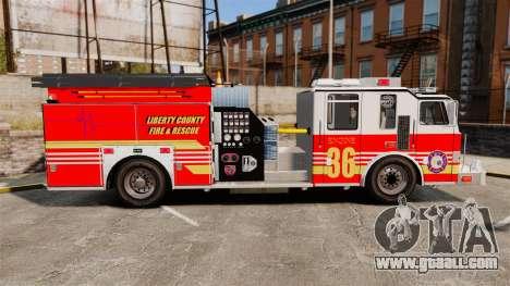 Firetruck LCFR [ELS] for GTA 4 left view