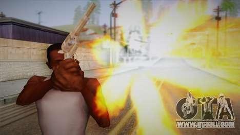Colt Peacemaker (Chrome) for GTA San Andreas third screenshot