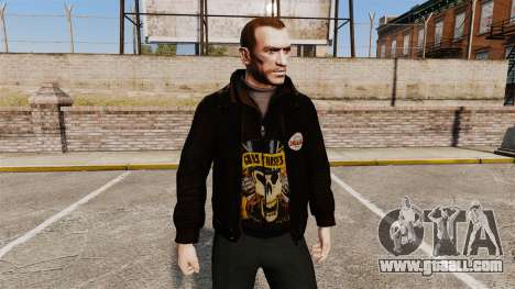 Leather jacket-Guns N Roses- for GTA 4