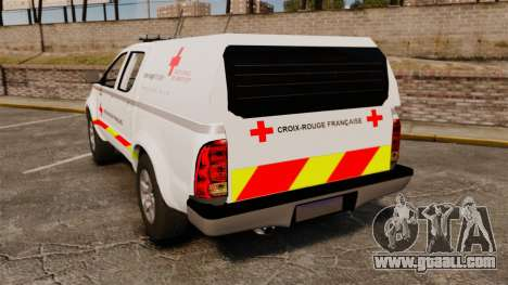 Toyota Hilux French Red Cross [ELS] for GTA 4 back left view