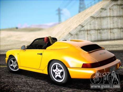 Porsche 911 Speedster Carrera 2 1992 for GTA San Andreas inner view