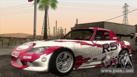 Honda S2000 RS-R for GTA San Andreas upper view