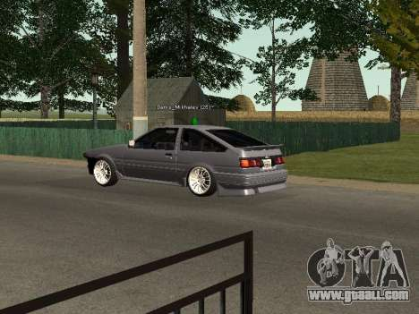 Toyota Corolla GTS Drift Edition for GTA San Andreas right view