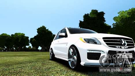 Mercedes-Benz ML63 AMG for GTA 4 inner view