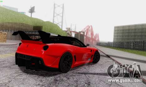 Ferrari 599XX Evolution for GTA San Andreas upper view
