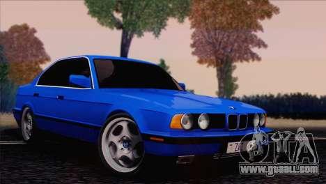 BMW 535i E34 Mafia Style for GTA San Andreas back left view