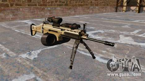Assault machine FN SCAR-L C-Mag for GTA 4