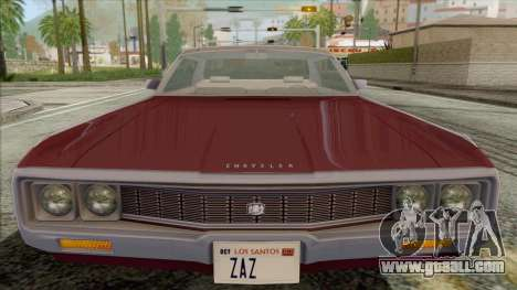 Chrysler New Yorker 4 Door Hardtop 1971 for GTA San Andreas right view