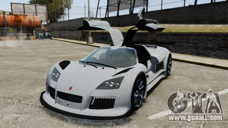 Gumpert Apollo S 2011 for GTA 4 upper view
